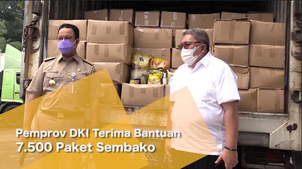 Pemprov DKI Terima Bantuan 7.500 Paket Sembako