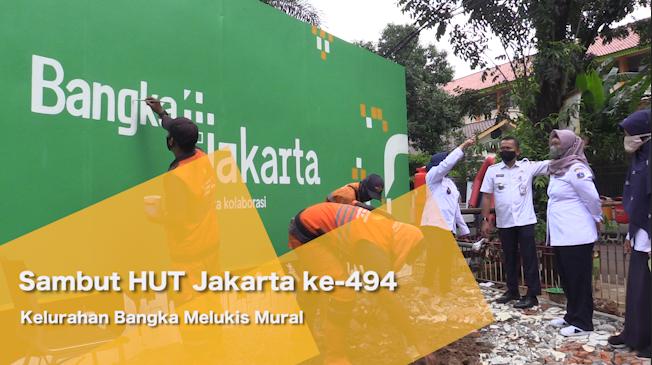 Sambut HUT Jakarta ke-494, Kelurahan Bangka Melukis Mural