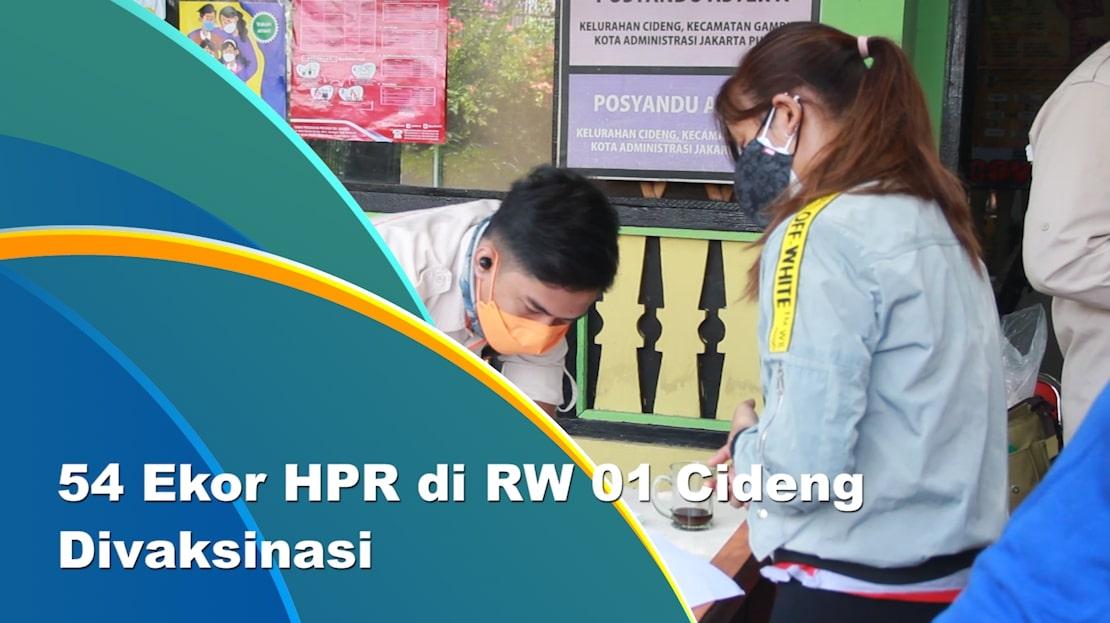 Sudin KPKP Jakpus Gelar Vaksinasi Rabies di Cideng