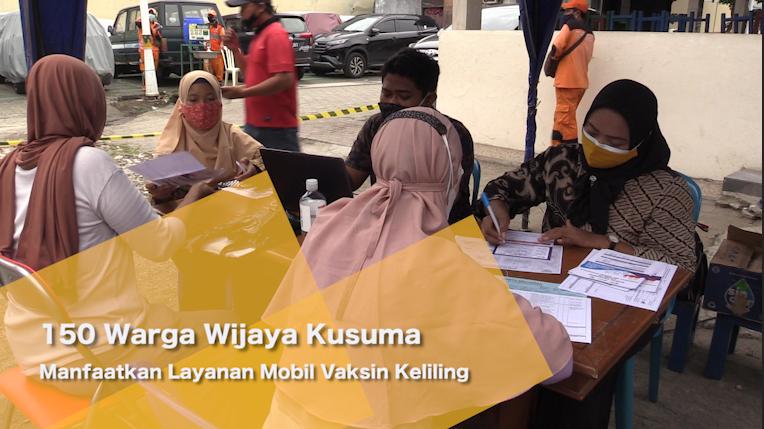 150 Warga Wijaya Kusuma Manfaatkan Layanan Mobil Vaksin Keliling