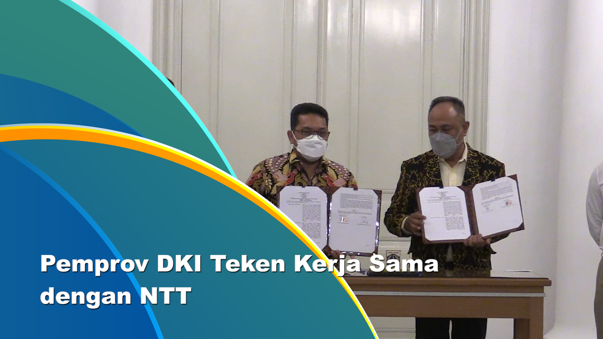 DKI-NTT Tandatangani Kerja Sama di Balai Kota