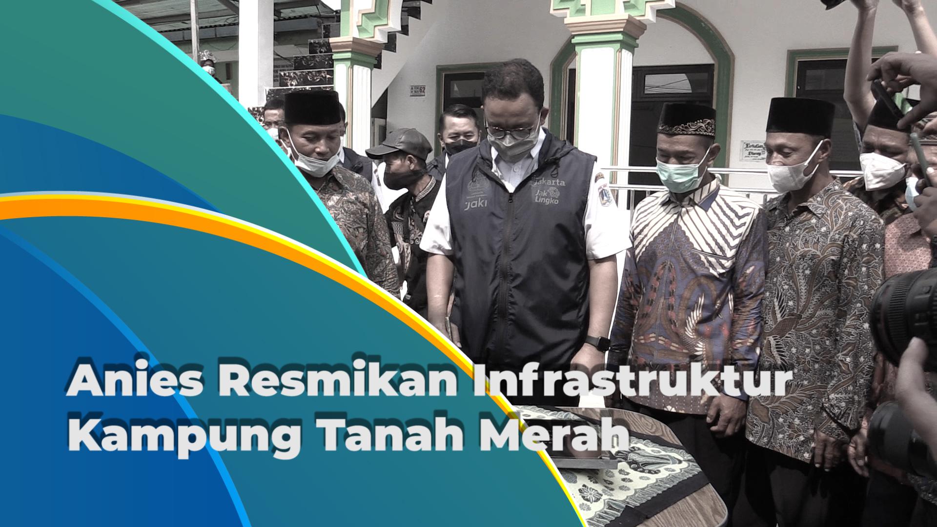 Infrastruktur Kampung Tanah Merah Diresmikan