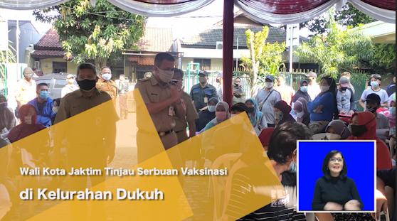 Wali Kota Jaktim Tinjau Serbuan Vaksinasi di Kelurahan Dukuh