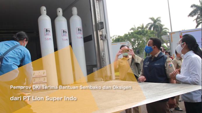 Pemprov DKI Terima Bantuan Sembako dan Oksigen dari PT Lion Super Indo